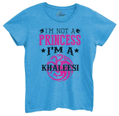 Womens I'm Not A Princess I'm A Khaleesi Tshirt Small Womens Tank Tops Blue Tshirt
