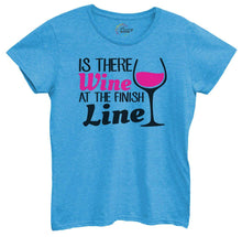 Womens Is There Wine At The Finish Line Tshirt Small Womens Tank Tops Blue Tshirt