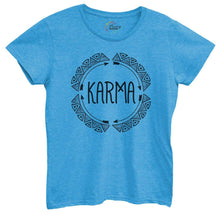 Womens Karma Tshirt Small Womens Tank Tops Blue Tshirt