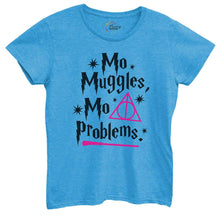 Womens Mo Muggles Mo Problems Tshirt Small Womens Tank Tops Blue Tshirt