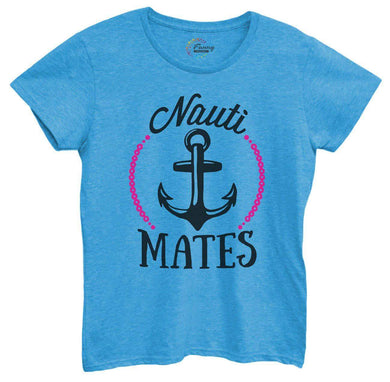 Womens Nauti Mates Tshirt Small Womens Tank Tops Blue Tshirt