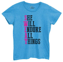 Womens She Will Endure All Things Tshirt Small Womens Tank Tops Blue Tshirt