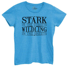 Womens Stark In The Streets Wildling In The Sheets Tshirt Small Womens Tank Tops Blue Tshirt