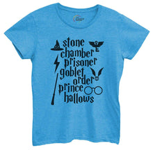 Womens Stone Chamber Prisoner Goblet Order Prince Hallows Tshirt Small Womens Tank Tops Blue Tshirt