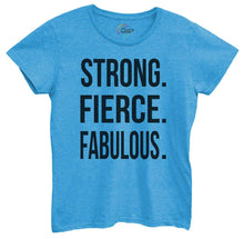 Womens Strong, Fierce, Fabulous. Tshirt Small Womens Tank Tops Blue Tshirt
