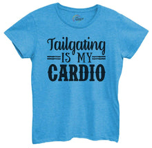 Womens Tailgating Is My Cardio Tshirt Small Womens Tank Tops Blue Tshirt