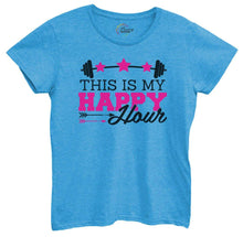 Womens This Is My Happy Hour Tshirt Small Womens Tank Tops Blue Tshirt