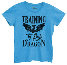 Womens Training To Ride Dragon Tshirt Small Womens Tank Tops Blue Tshirt