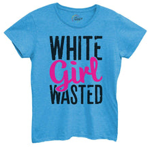 Womens White Girl Wasted Tshirt Small Womens Tank Tops Blue Tshirt