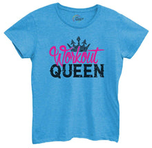 Womens Workout Queen Tshirt Small Womens Tank Tops Blue Tshirt