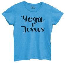 Womens Yoga And Jesus Tshirt Small Womens Tank Tops Blue Tshirt