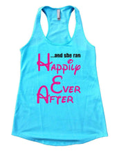 ... And She Ran Happily Ever After Womens Workout Tank Top Small Womens Tank Tops Cancun Blue
