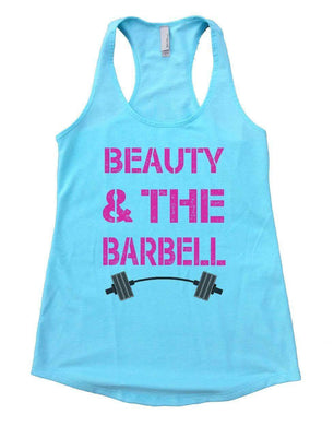 BEAUTY AND THE BARBELL Womens Workout Tank Top Small Womens Tank Tops Cancun Blue