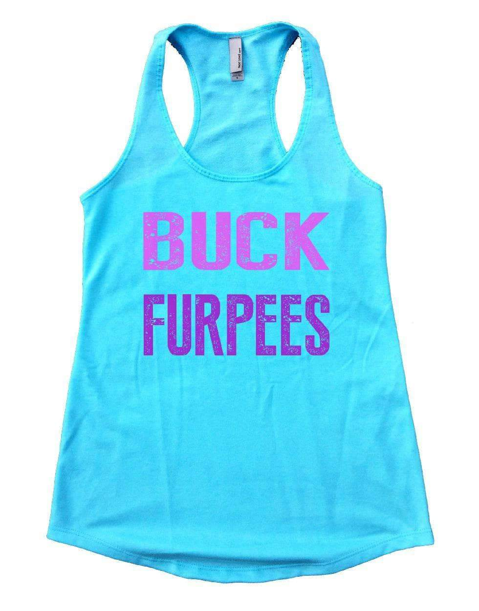 BUCK FURPEES Womens Workout Tank Top Small Womens Tank Tops Cancun Blue