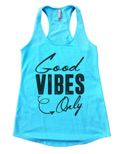Good VIBES Only Womens Workout Tank Top Small Womens Tank Tops Cancun Blue