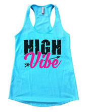 HIGH Vibe Womens Workout Tank Top Small Womens Tank Tops Cancun Blue