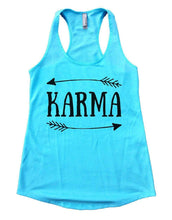 KARMA Womens Workout Tank Top Small Womens Tank Tops Cancun Blue
