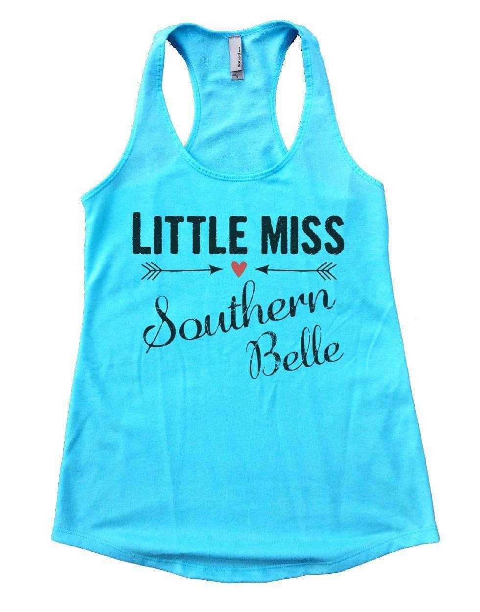 LITTLE MISS Southern Belle Womens Workout Tank Top Small Womens Tank Tops Cancun Blue