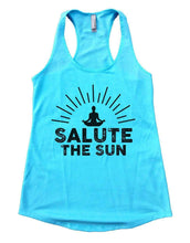 SALUTE THE SUN Womens Workout Tank Top Small Womens Tank Tops Cancun Blue