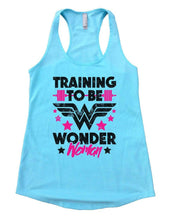 TRAINING TO BE WONDER Woman Womens Workout Tank Top Small Womens Tank Tops Cancun Blue