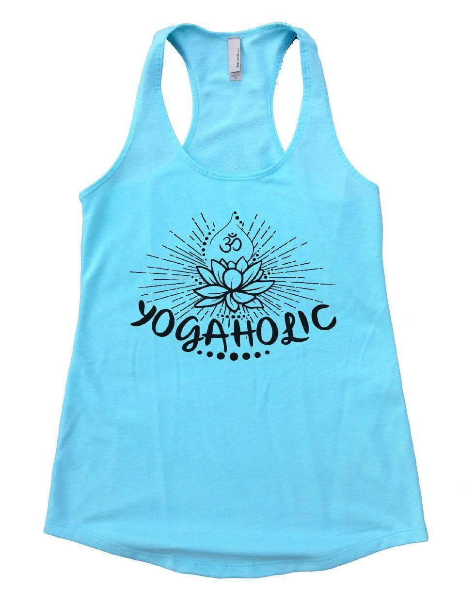YOGAHOLIC Womens Workout Tank Top Small Womens Tank Tops Cancun Blue