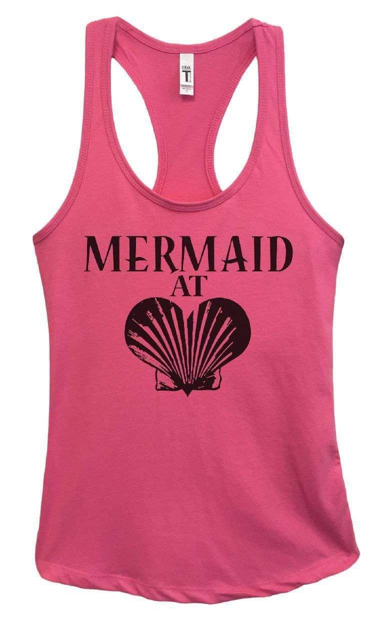 Womens Mermaid At Love Grapahic Design Fitted Tank Top Small Womens Tank Tops Fuchsia