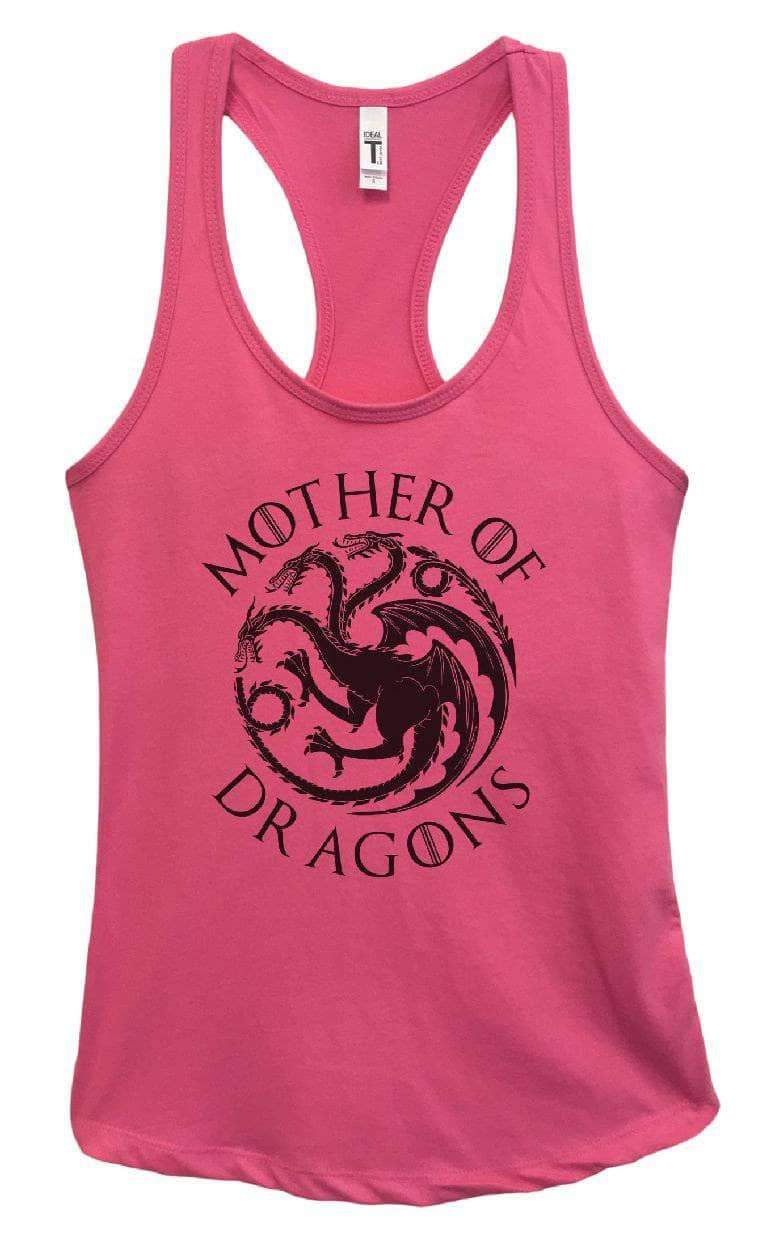 Womens Mother Of Dragons Grapahic Design Fitted Tank Top Small Womens Tank Tops Fuchsia