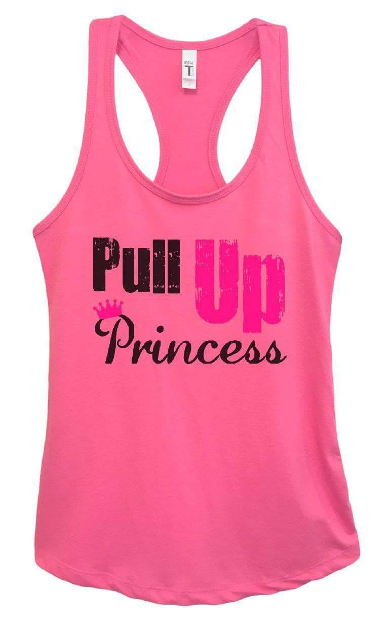 Womens Pull Up Princess Grapahic Design Fitted Tank Top Small Womens Tank Tops Fuchsia