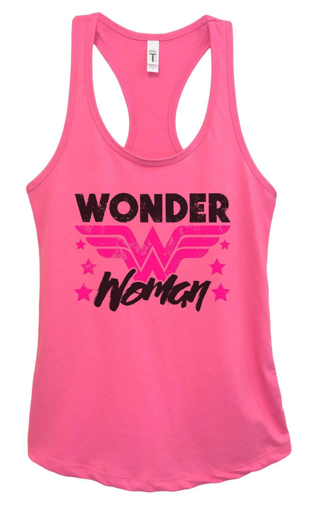 Womens Wonder Woman Grapahic Design Fitted Tank Top Small Womens Tank Tops Fuchsia