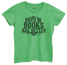 Womens Boys In Books Are Better Tshirt Small Womens Tank Tops Green Tshirt