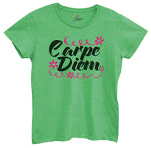 Womens Carpe Diem Tshirt Small Womens Tank Tops Green Tshirt