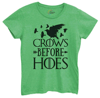 Womens Crows Before Hoes Tshirt Small Womens Tank Tops Green Tshirt