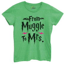 Womens From Muggle To Mrs Tshirt Small Womens Tank Tops Green Tshirt