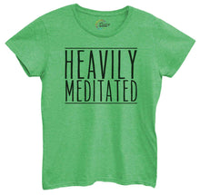 Womens Heavily Meditated Tshirt Small Womens Tank Tops Green Tshirt
