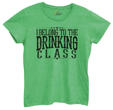 Womens I Belong To The Drinking Class Tshirt Small Womens Tank Tops Green Tshirt