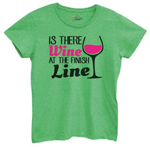Womens Is There Wine At The Finish Line Tshirt Small Womens Tank Tops Green Tshirt