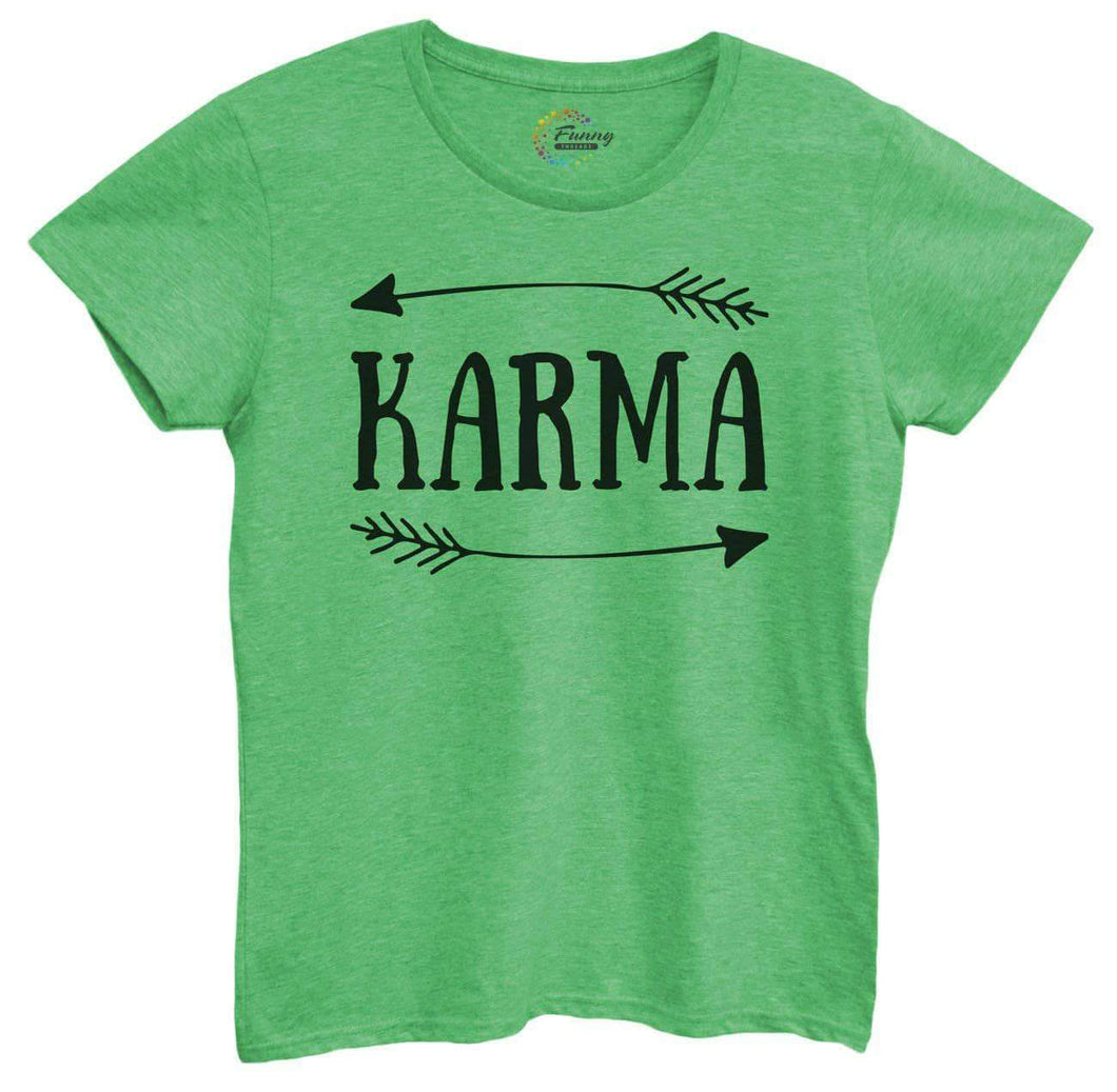 Womens Karma Tshirt Small Womens Tank Tops Green Tshirt
