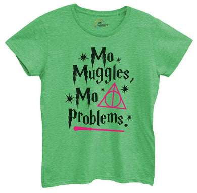 Womens Mo Muggles Mo Problems Tshirt Small Womens Tank Tops Green Tshirt