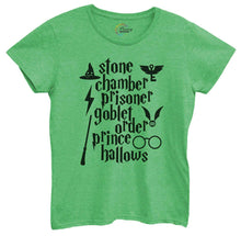 Womens Stone Chamber Prisoner Goblet Order Prince Hallows Tshirt Small Womens Tank Tops Green Tshirt