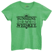Womens Sunshine And Whiskey Tshirt Small Womens Tank Tops Green Tshirt