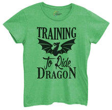 Womens Training To Ride Dragon Tshirt Small Womens Tank Tops Green Tshirt