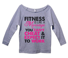 Fitness Is Like A Marriage You Can't Cheat And Expect It To Work Womens 3/4 Long Sleeve Vintage Raw Edge Shirt Small Womens Tank Tops Grey