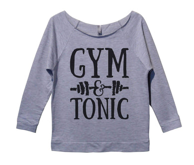 Gym And Tonic Womens 3/4 Long Sleeve Vintage Raw Edge Shirt Small Womens Tank Tops Grey