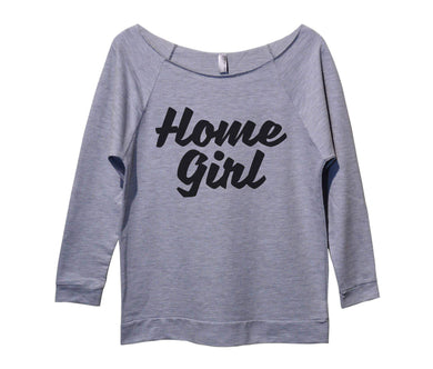 Home Girl Womens 3/4 Long Sleeve Vintage Raw Edge Shirt Small Womens Tank Tops Grey