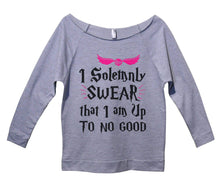 I Solemnly Swear That I Am Up To No Good Womens 3/4 Long Sleeve Vintage Raw Edge Shirt Small Womens Tank Tops Grey