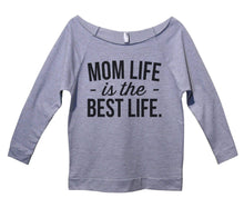 Mom Life Is The Best Life Womens 3/4 Long Sleeve Vintage Raw Edge Shirt Small Womens Tank Tops Grey