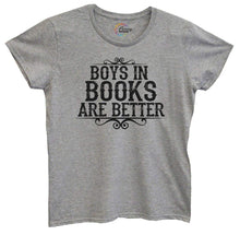 Womens Boys In Books Are Better Tshirt Small Womens Tank Tops Grey Tshirt