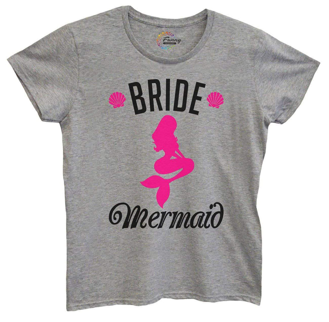 Womens Bride's Mermaid Tshirt Small Womens Tank Tops Grey Tshirt