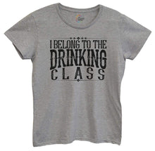 Womens I Belong To The Drinking Class Tshirt Small Womens Tank Tops Grey Tshirt
