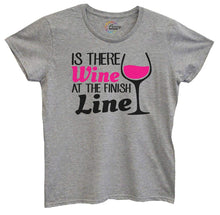 Womens Is There Wine At The Finish Line Tshirt Small Womens Tank Tops Grey Tshirt
